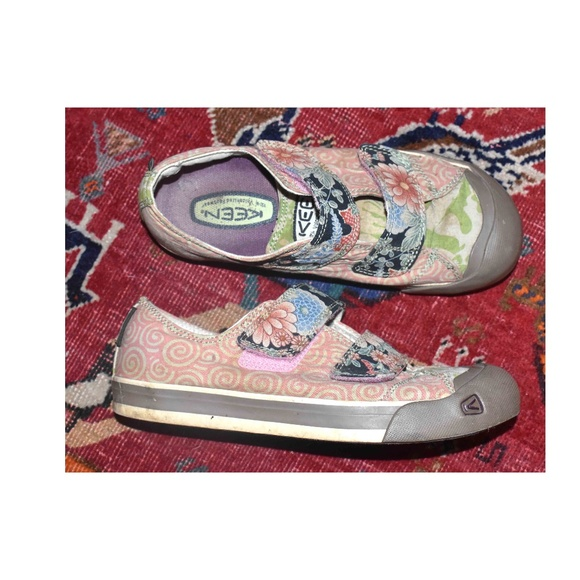 Floral Multi Color Velcro Sneakers Size